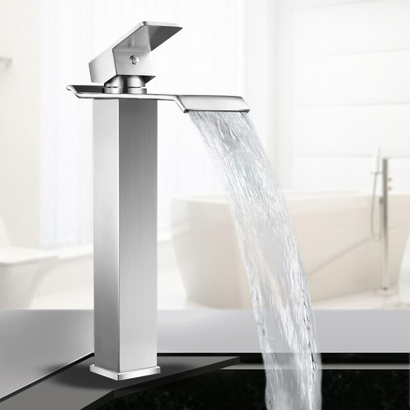 prodigious Stainless Steel Waterfall Faucet Part - 3: stainless steel waterfall faucet mixer