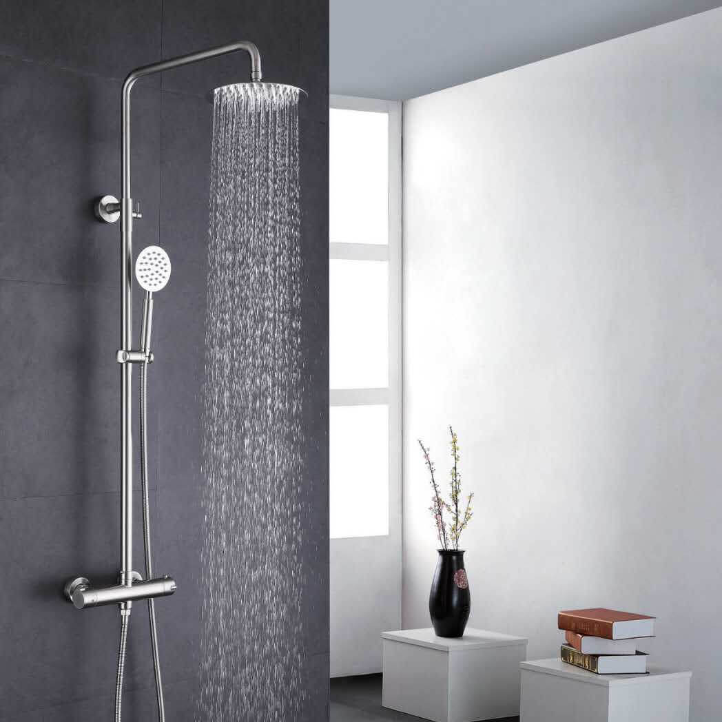 Shower thermostatic faucet 304# Stainless steel Bathroom factory