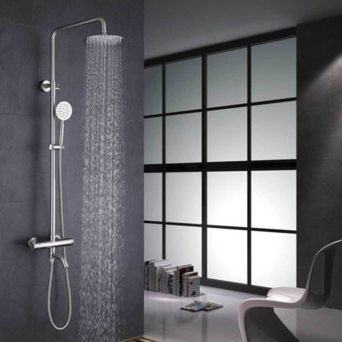 Shower thermostatic tap