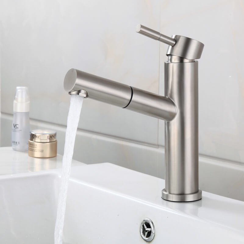 Brushed Stainless Steel Faucet Kitchen 304 Stainless Steel Faucet Factory